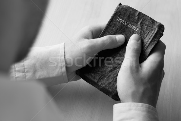 Young man holding bible Stock photo © monkey_business