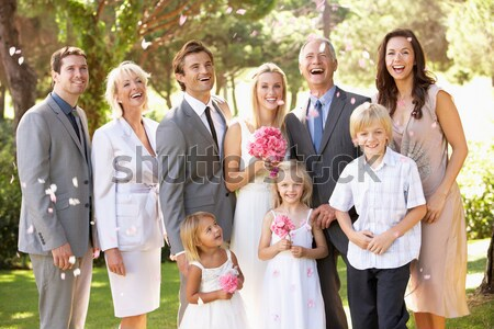 Familia grupo boda amor hombre mujeres Foto stock © monkey_business