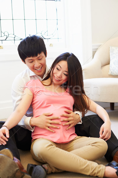 Couple Attending Ante Natal Class Together Stock photo © monkey_business