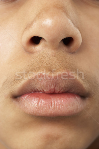 Close-Up Of Young Boy's Mouth And Nose Stock photo © monkey_business