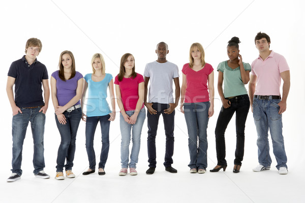 Groupe adolescent amis studio heureux couleur Photo stock © monkey_business