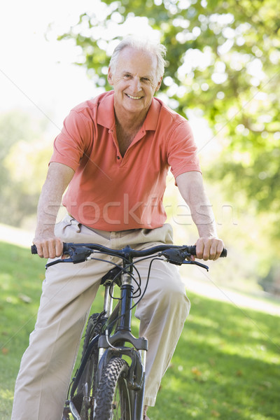 Senior man on cycle ride Stock photo © monkey_business