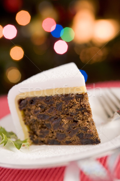 Wig christmas cake voedsel oranje eieren Stockfoto © monkey_business