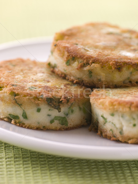 Plate of Bubble and Squeak cakes Stock photo © monkey_business