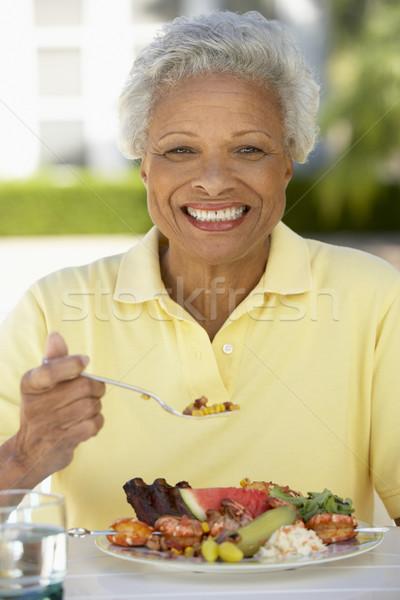 Senior Woman Dining Al Fresco Stock photo © monkey_business