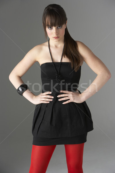 Studio portrait adolescente fille visage couleur Photo stock © monkey_business
