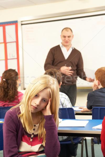 Schoolchildren Studying In Classroom With Teacher Stock photo © monkey_business