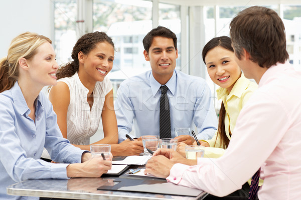 Stock photo: Mixed group in business meeting