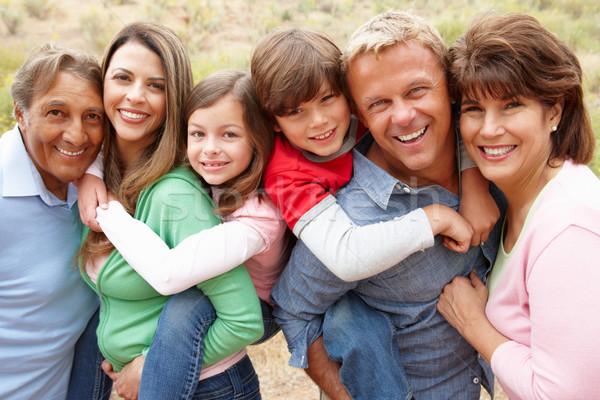 Ao ar livre família menina crianças sol Foto stock © monkey_business