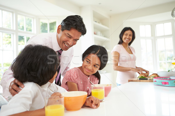 Family Having Breakfast Before Father Leaves For Work Stock photo © monkey_business