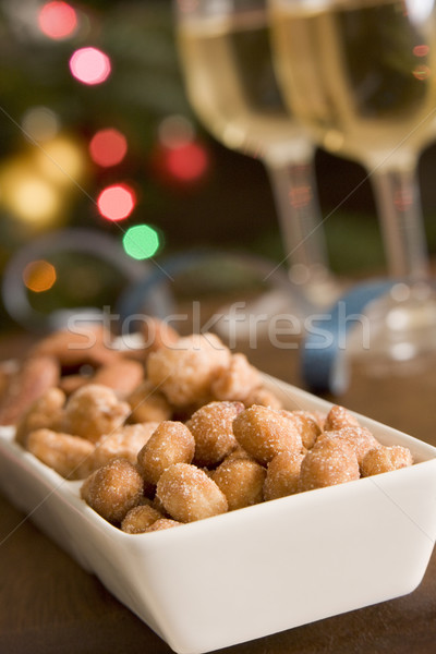 Schotel gezouten pinda's koken christmas Stockfoto © monkey_business