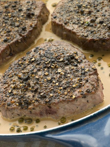 Filet Mignon au Poirve' in a saut pan Stock photo © monkey_business