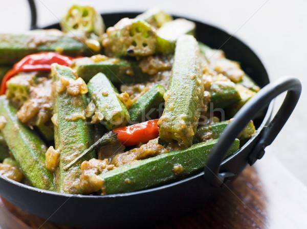 Karahi Dish with Bhindi Masala Stock photo © monkey_business