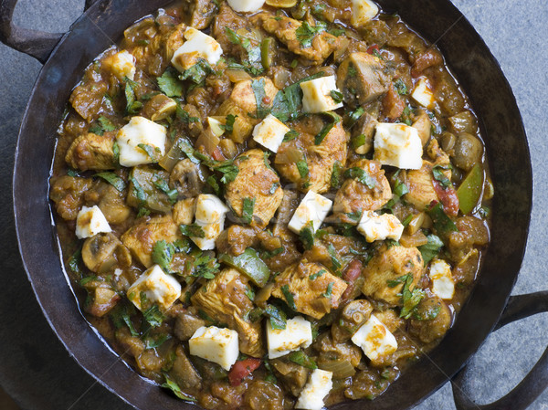 Chicken and Paneer Balti Stock photo © monkey_business