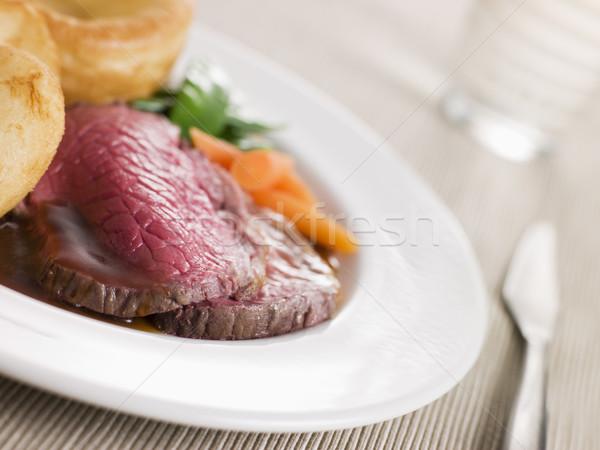 Zdjęcia stock: Brytyjski · wołowiny · yorkshire · pudding · żywności · obiedzie