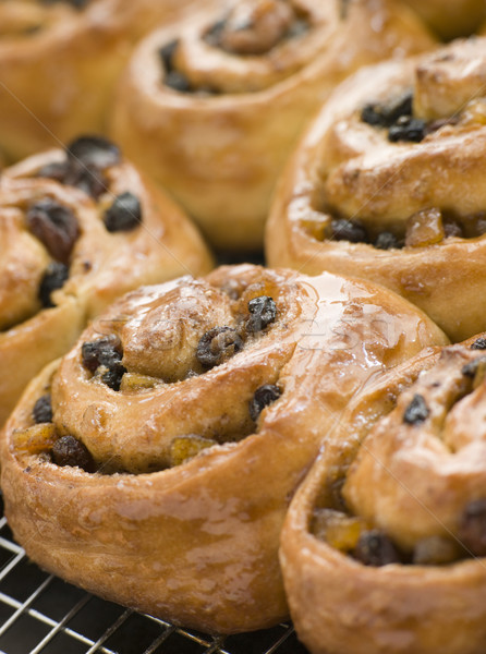 Chelsea Buns on a cooling rack Stock photo © monkey_business
