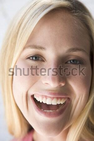 肖像 中東 少女 幸せ 子 インテリア ストックフォト © monkey_business