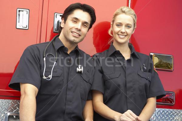 портрет два счастливым медицинской рабочих Сток-фото © monkey_business
