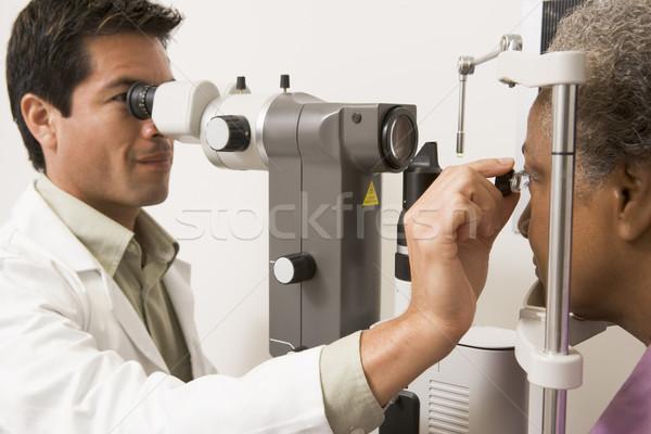Arts ogen vrouw medische kleur patiënt Stockfoto © monkey_business