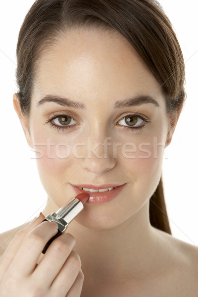 Teenage Girl Applying Make Up Stock photo © monkey_business