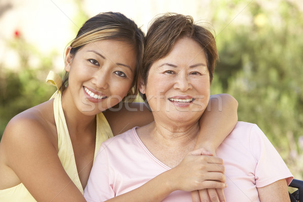 Senior Woman With Adult Daughter In Garden Together Stock photo © monkey_business