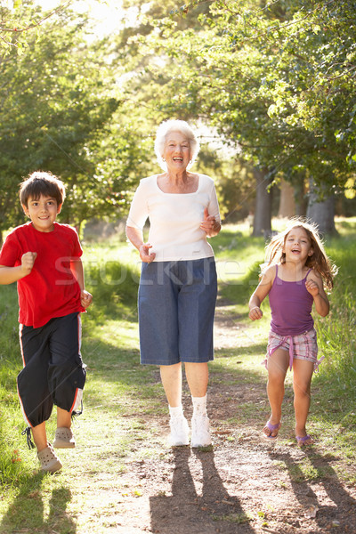 Grandmother Jogging In Park With Grandchildren Stock photo © monkey_business