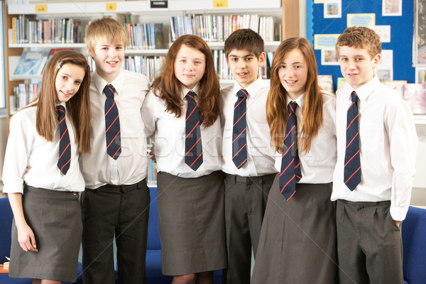 Portrait Of Group Of Teenage Students In Library Stock photo © monkey_business