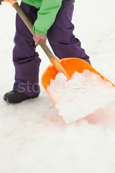 Close Up Of Teenage Boy Shovelling Snow From Path Stock photo © monkey_business