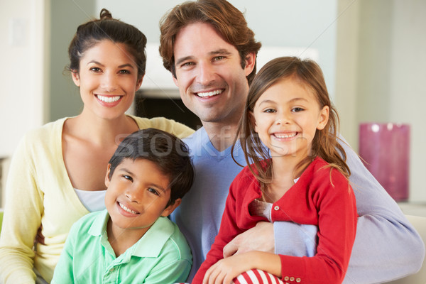 Family Relaxing On Sofa Together Stock photo © monkey_business