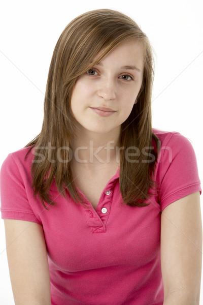 Сток-фото: сидят · студию · девушки · цвета · подростку