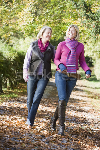Mother and grown up daughter on walk through woods Stock photo © monkey_business