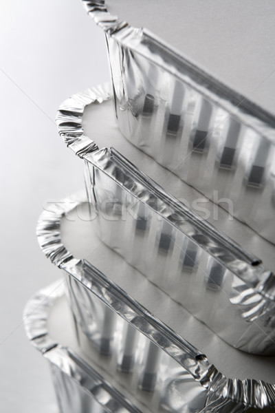 Stack Of Foil Take Away Containers Stock photo © monkey_business