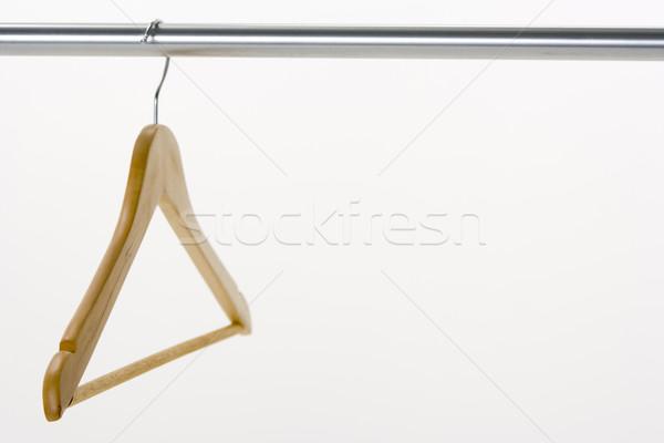 Kleerhanger rail hout mode financieren jurk Stockfoto © monkey_business