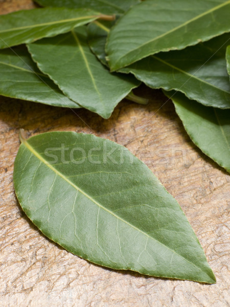 Bay Leaves On Chopping Board Stock photo © monkey_business