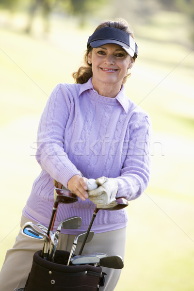 Portrait Of A Female Golfer Stock photo © monkey_business