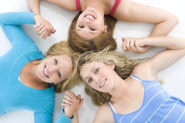 Retrato amigos meninas adolescente cor Foto stock © monkey_business