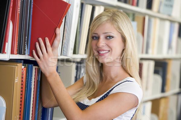 Сток-фото: книга · библиотека · женщины · студент