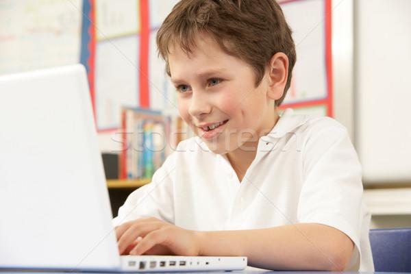 écolier classe ordinateur école étudiant Photo stock © monkey_business