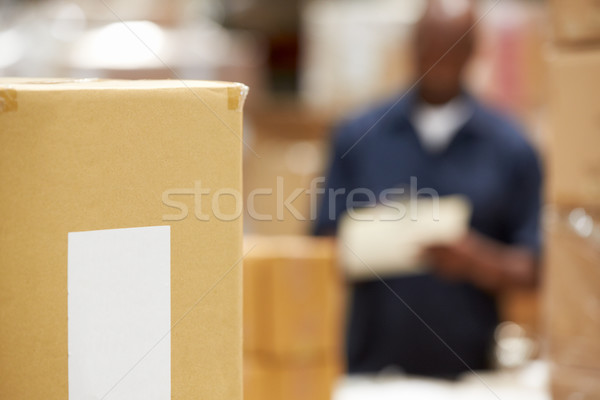 Package Ready For Dispatch In Warehouse Stock photo © monkey_business