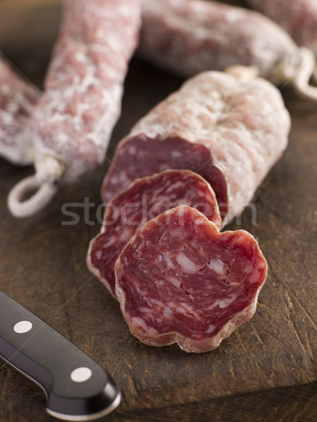 Selection of French Sausages on a cutting board Stock photo © monkey_business