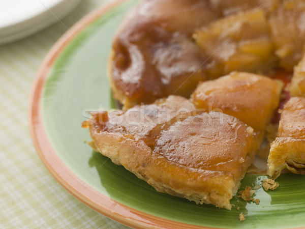 Slice of Tarte Tatin aux Pomme Stock photo © monkey_business
