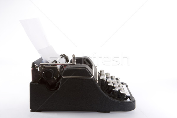 Side View Of Old Fashioned Typewriter Stock photo © monkey_business