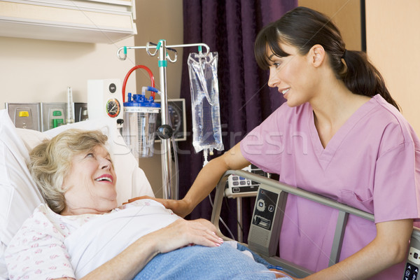 Nurse Talking To Senior Woman Stock photo © monkey_business