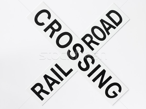 Rail Road Crossing Road Sign Stock photo © monkey_business