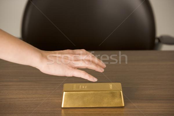 Gold Bar On Desk  Stock photo © monkey_business