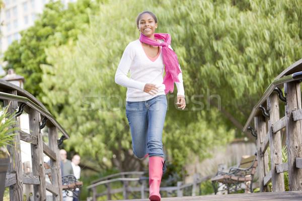 Teenage Girl Jogging In Park  Stock photo © monkey_business