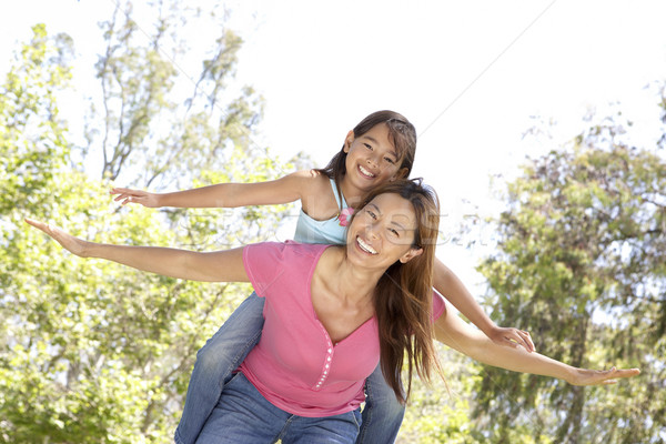 Mother And Daughter Enjoying Day In Park Stock photo © monkey_business