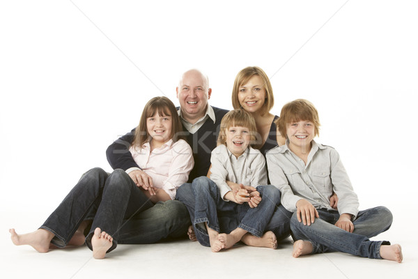 Familie Gruppe Sitzung Studio Kind Stock foto © monkey_business