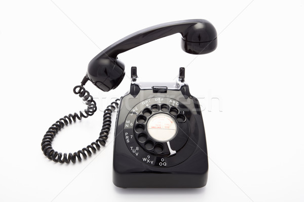 A rotary dial telephone Stock photo © monkey_business