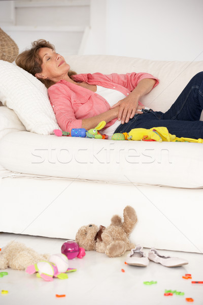 Kimerült nagymama élvezi nő család portré Stock fotó © monkey_business